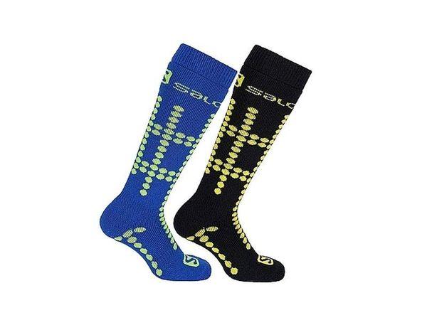 Salomon Socks Team 2 JR 2pack bud green/coro