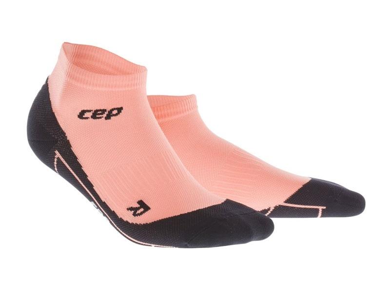 CEP členkové ponožky fitness dámske pastel/koral - III