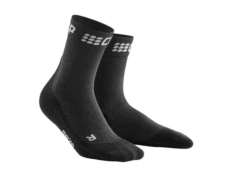 Cep krátke zimné bežecké ponožky W sivá/čierna - III