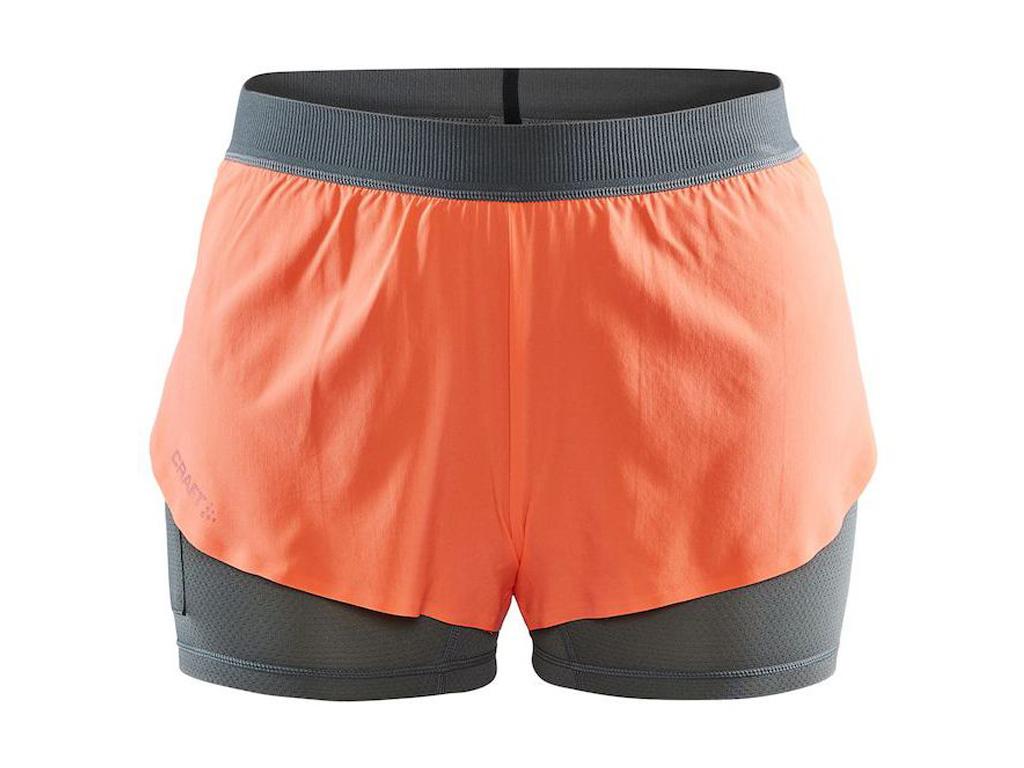 Craft Vent 2v1 Shorts W orange - XS