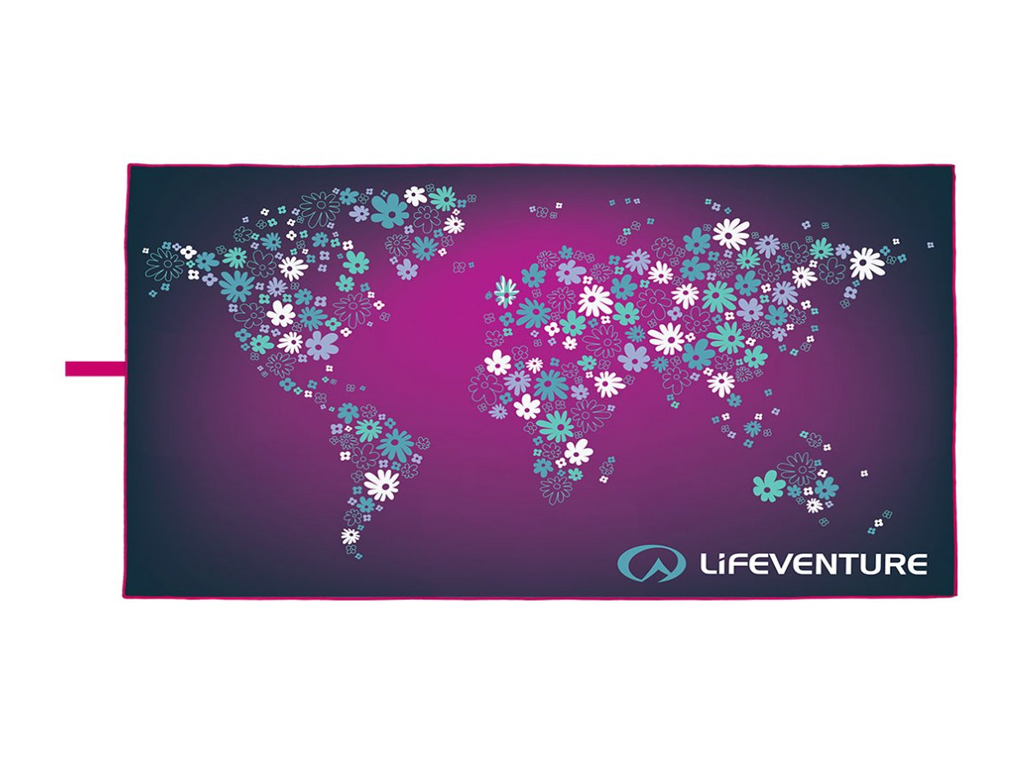 Lifeventure Soft Fibre Trek Towel Printed flowers