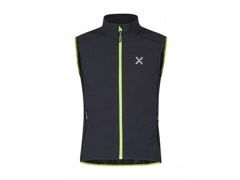 Montura Run Flash Vest nero/verde acido - M