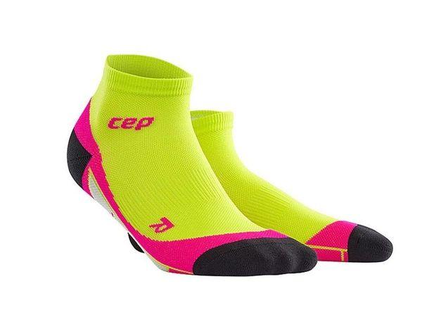CEP kompresné členkové ponožky dámske limet/pink
