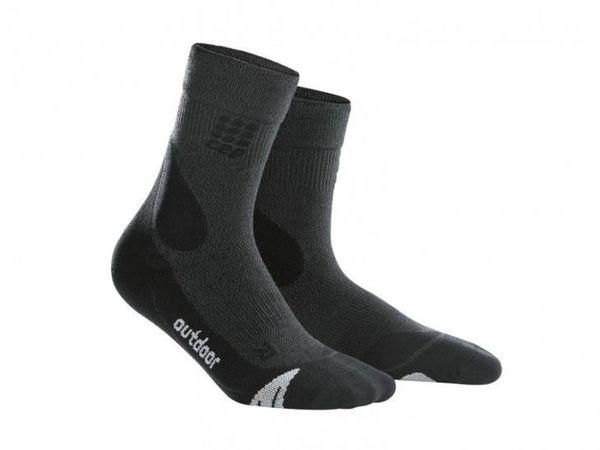 CEP kompresné outdoorové ponožky merino dámske grey
