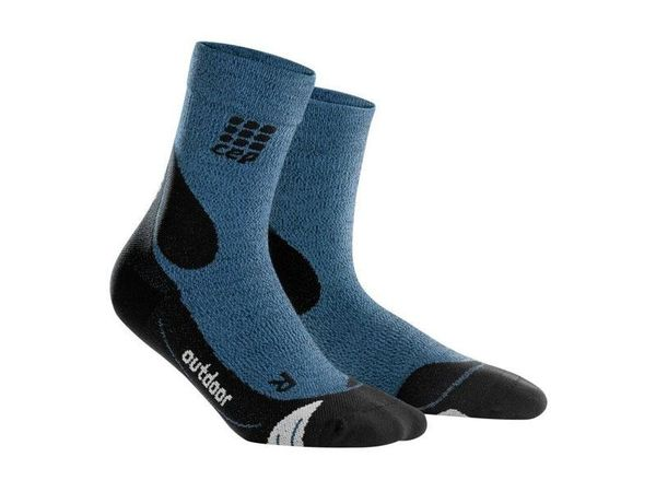 CEP Outdoor Merino Mid Cut Compression Socks desert sky/black