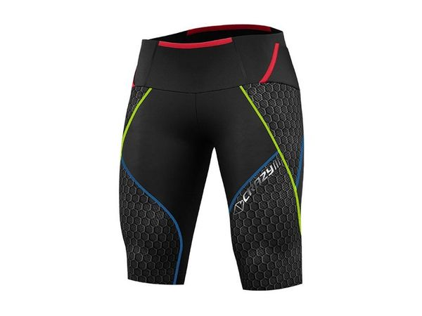 Crazy Idea M Short Umbolt black/lime