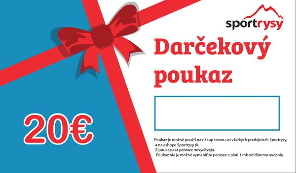 Darčekový poukaz 20 €