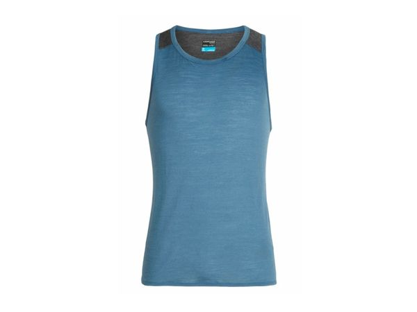 Icebreaker Mens Cool-Lite Amplify Tank thunder/panther heather